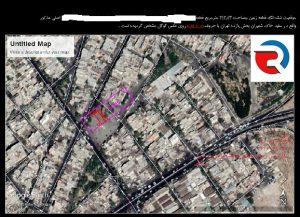 نقشه جانمایی پلاک ثبتی از تفسیر عکس هوایی