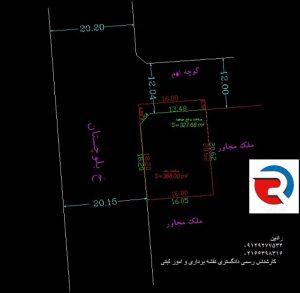 تهیه نقشه دوخطی برای شهرداری توسط کارشناس دارای صلاحیت